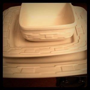 Longaberger Ivory Pottery